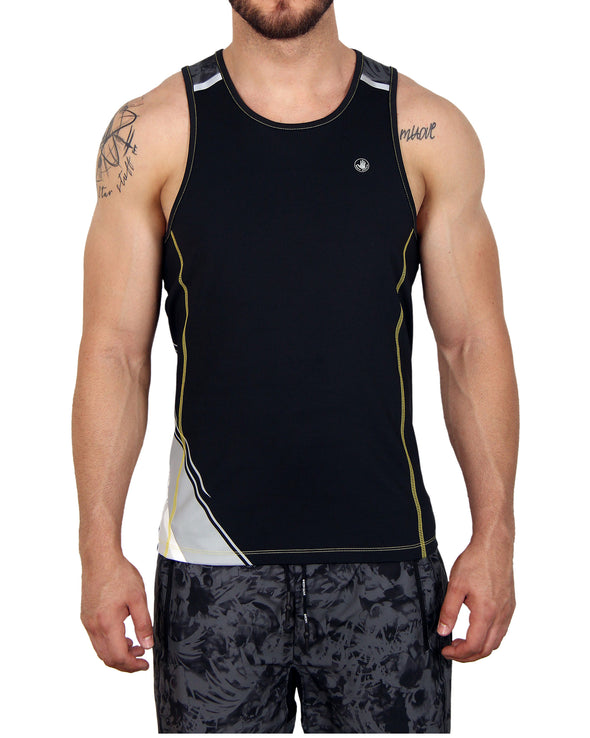 Men's Muscle Tee - Black/Grey