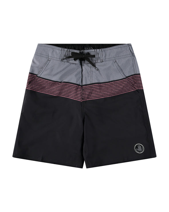 Men's 19-inch La Concha Horizon Stripes Eboard Short - Red Flame