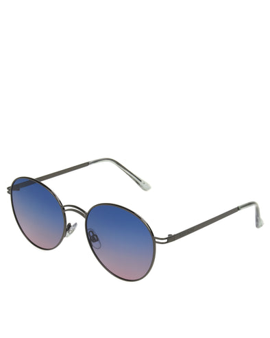 Women's BGL1902 Polarized Round Sunglasses - Gun Metal