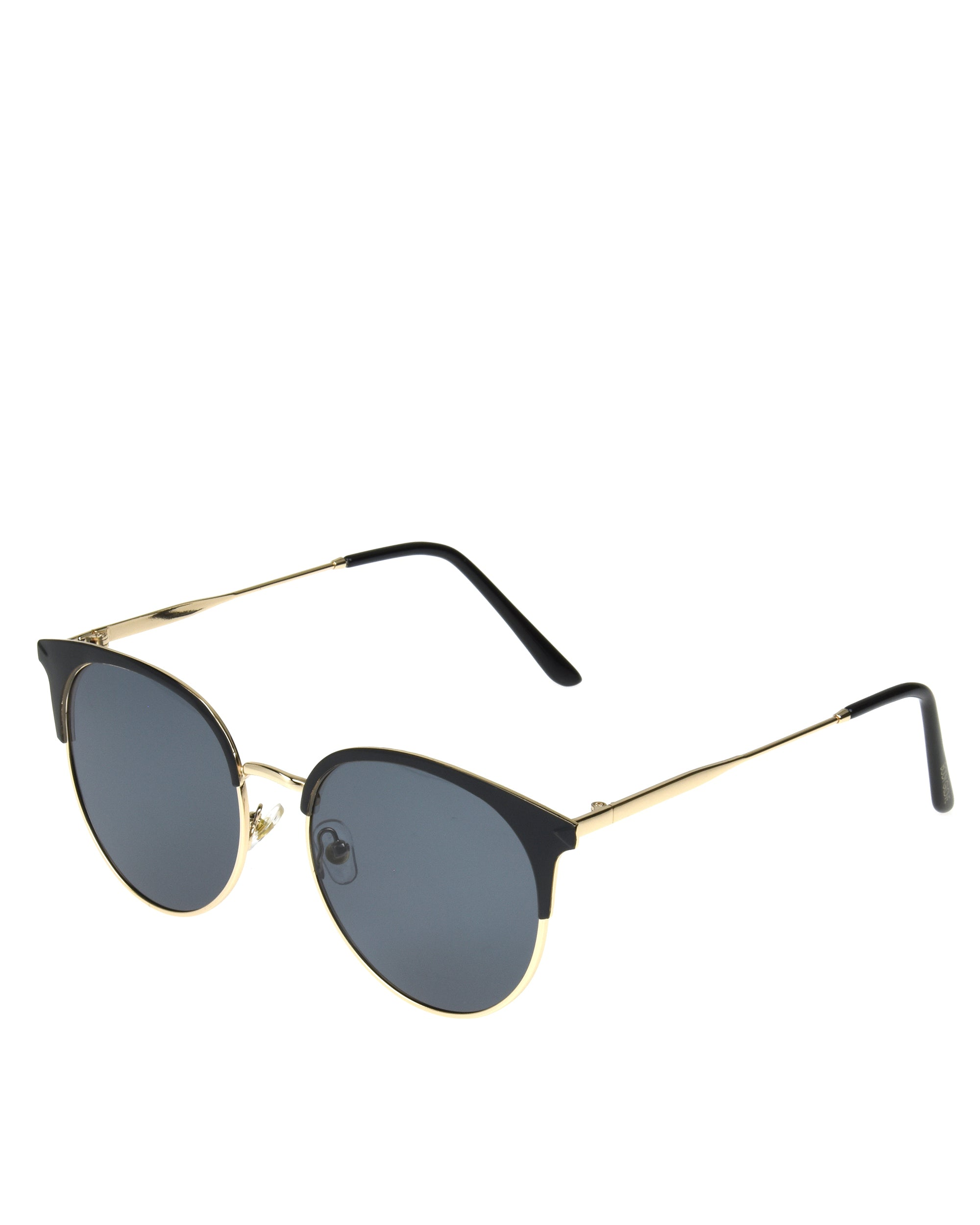 Women's BGL 2006 Shiny Black with Gold Metal Sunglasses - Black/Gold