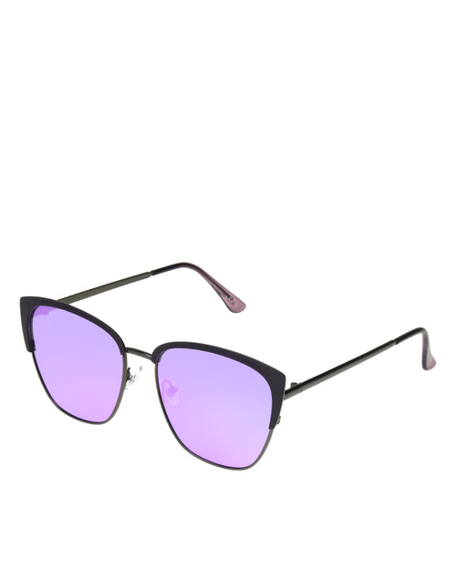 Women's BGL 2009 Shiny Purple and Gunmetal Sunglasses - Purple