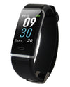Waterproof Activity Tracker with Heart Rate Monitor - Black