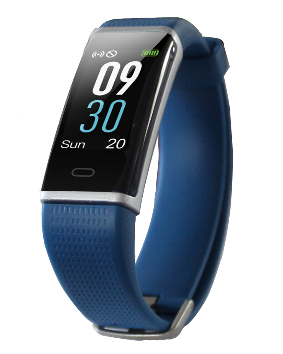 Waterproof Activity Tracker with Heart Rate Monitor - Ocean Blue