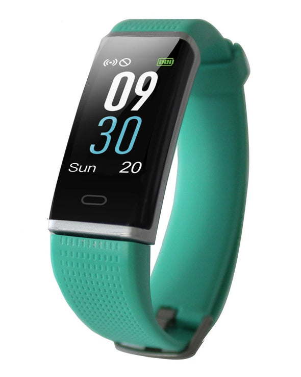 Waterproof Activity Tracker with Heart Rate Monitor - Turquoise