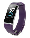 Waterproof Activity Tracker with Heart Rate Monitor - Purple