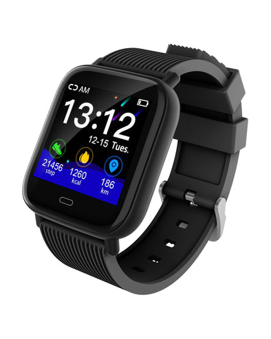 Mako 3.2 Smart Watch with Heart Rate & Blood Pressure - Black