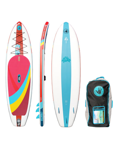 "Mantra 10'6"" Inflatable Stand Up Paddle Board (ISUP) with Bag, Paddle & Pump"