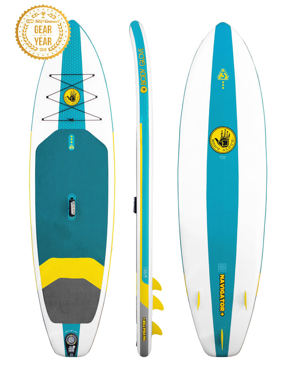 "Navigator Plus 10'6"" Inflatable Stand Up Paddle Board (ISUP) with Bag, Paddle & Pump"