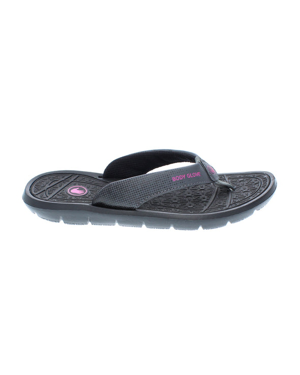 Women's Splash Flip-Flop Sandals - Black/Flamingo Pink