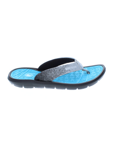 Women's Splash Flip-Flop Sandals - Black/Oasis Blue