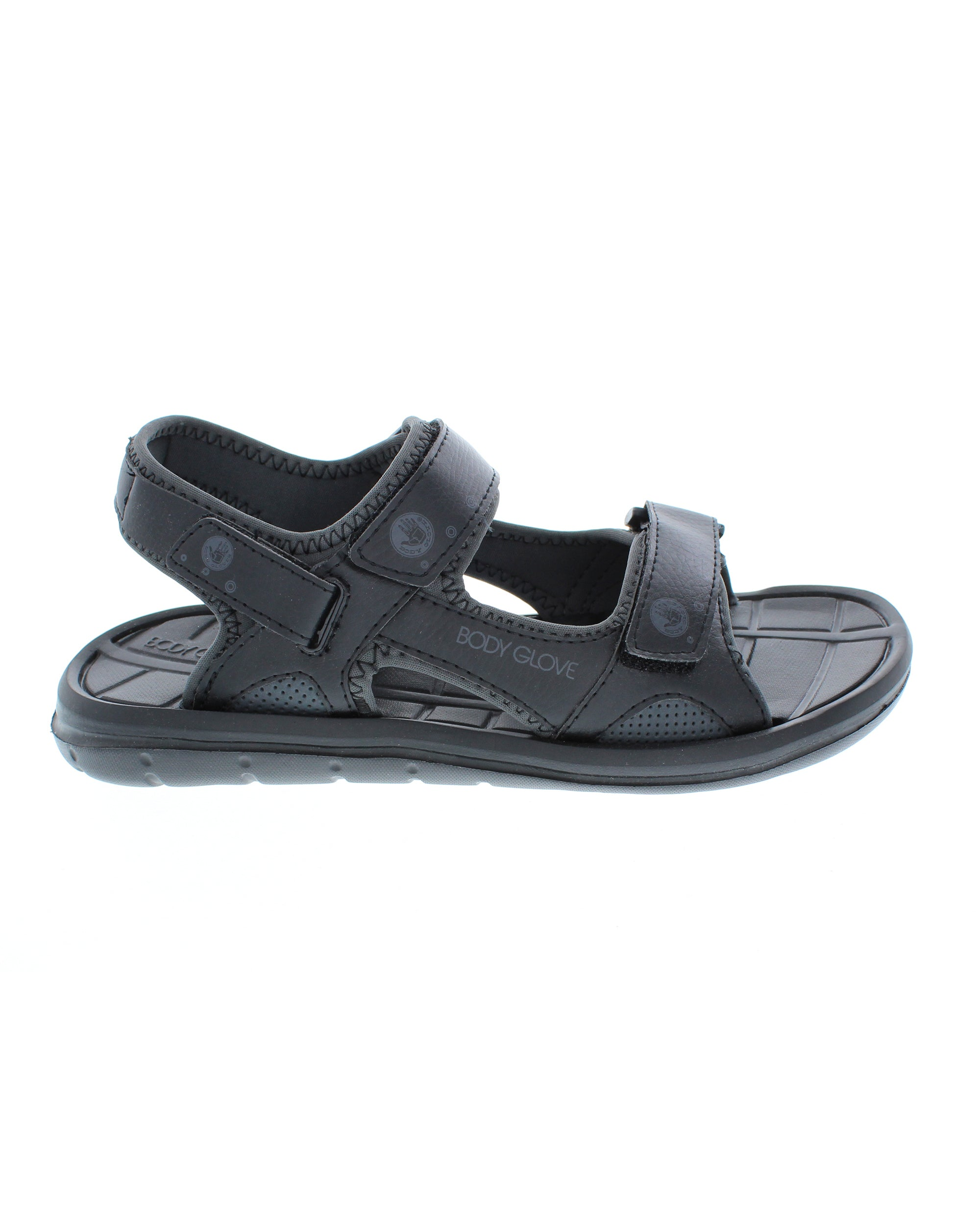 Men's Trek Adjustable Sandals - Black/Black