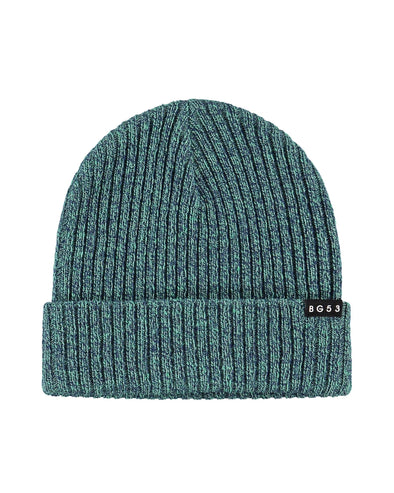 Unisex Knit Beanie with BG53 Rubber Logo - Green