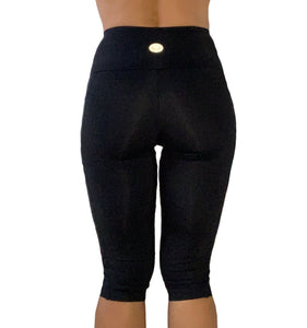 Basic Black Pocket Capris - Alis Sportswear