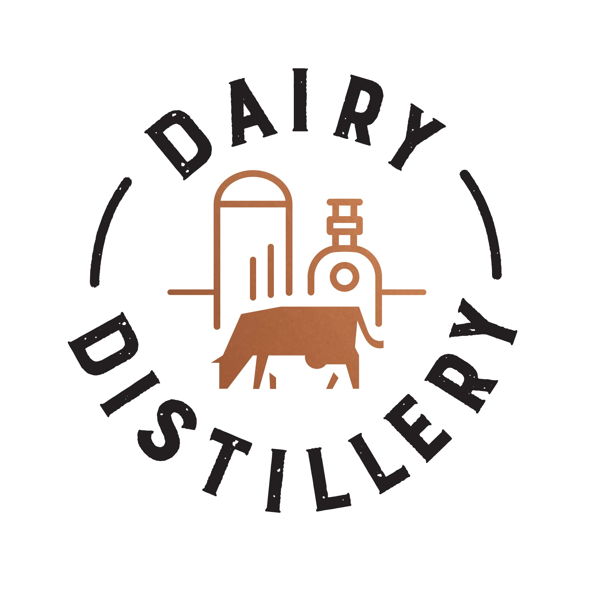 The Dairy Distillery's logo, makers of Vodkow Milk Vodka