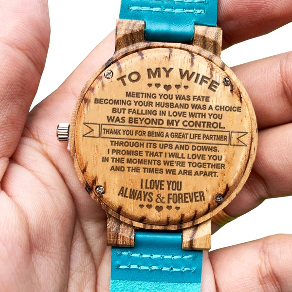 To My Wife - Wood Watch - WH-FB01-3