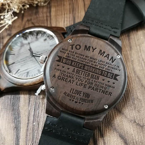 To My Man - Wood Watch - A02
