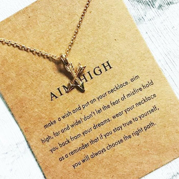 To My Daughter - Aim High - Life Motivation Necklace