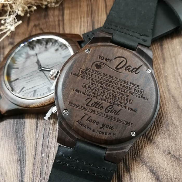 To My Dad - Wood Watch - WH-DF20B107