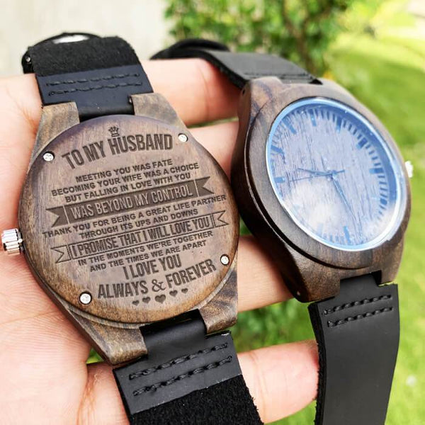 To My Husband - Wood Watch - WH-DF20B113