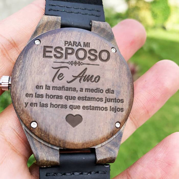 Para Mi Esposo - Wood Watch - WH-DF20B51