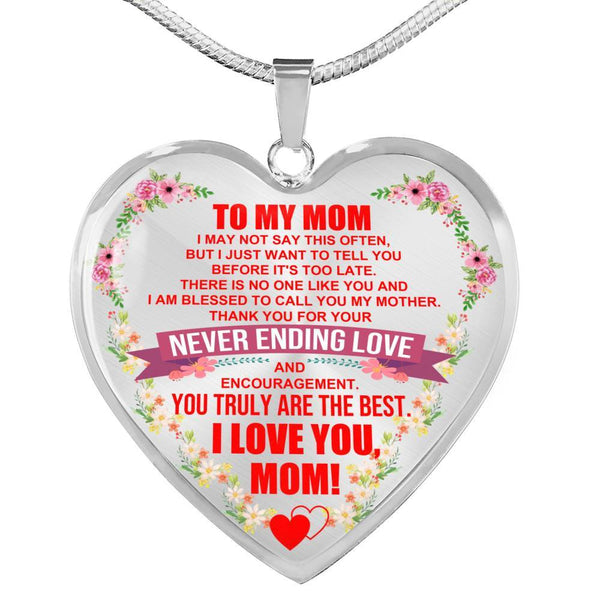 To My Mom - Heart Necklace - HD39