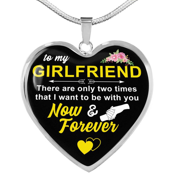 To My Girlfriend - Heart Necklace - HD59