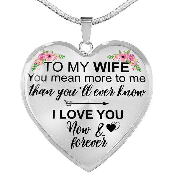 To My Wife - Heart Necklace - HD51