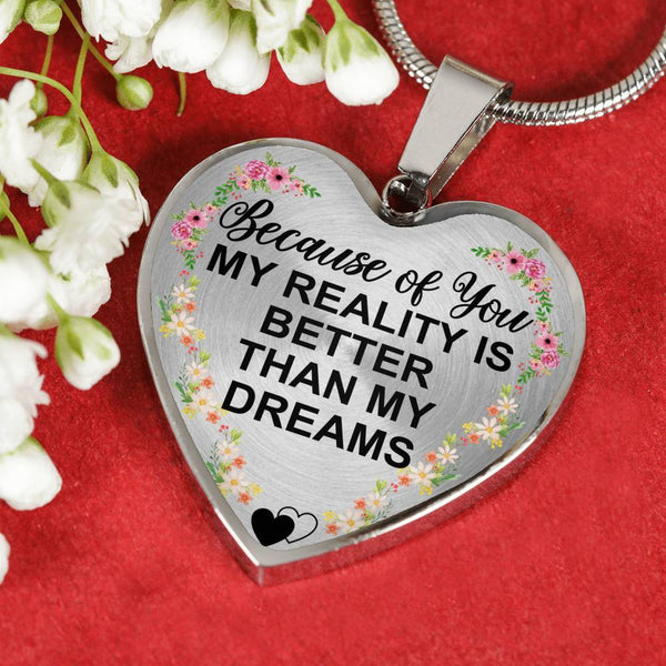 Because Of You - Heart Necklace - HD46