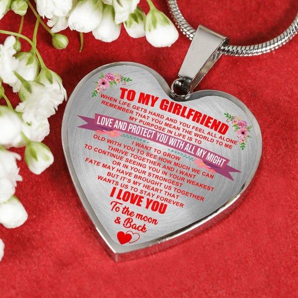 To My Girlfriend - Heart Necklace - HD28