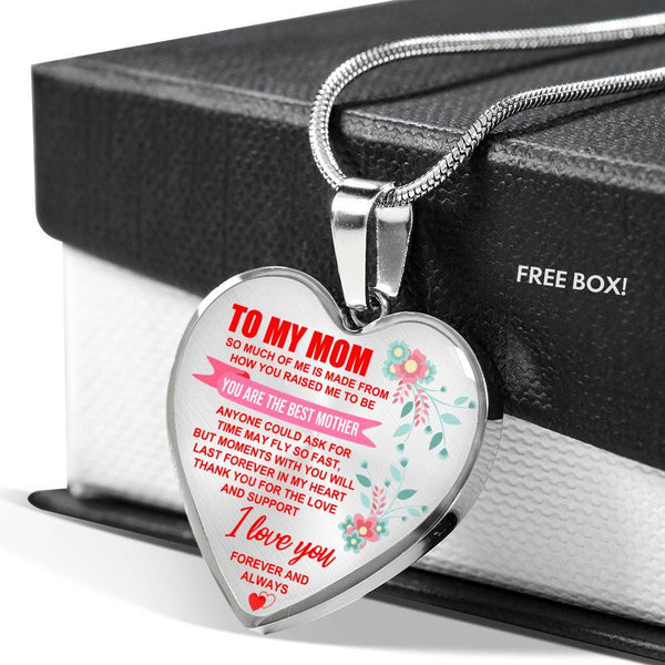 To My Mom - Heart Necklace - HD44