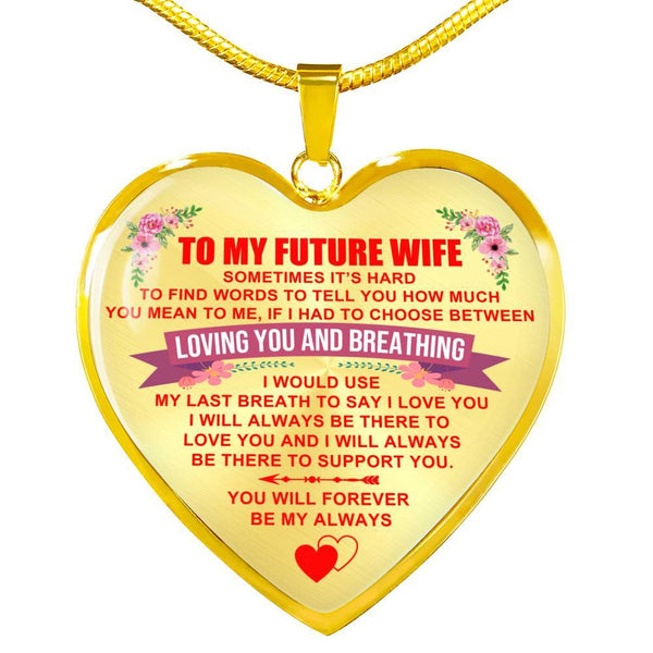 To My Wife - Heart Necklace - HD18