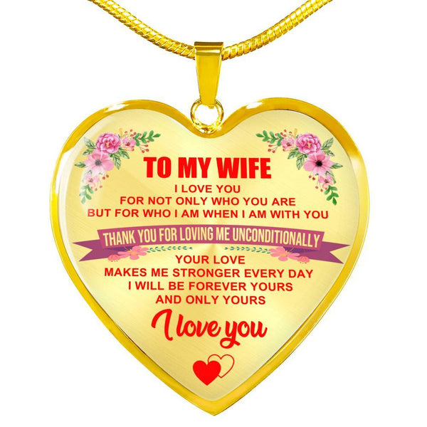 To My Wife - Heart Necklace - HD22