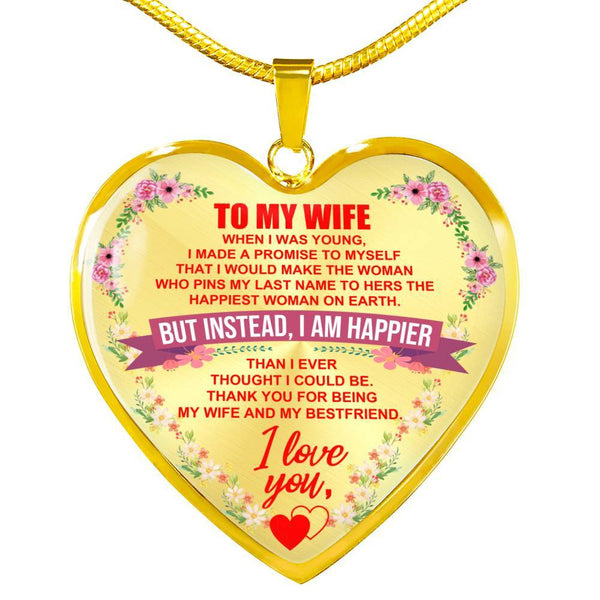 To My Wife - Heart Necklace - HD41