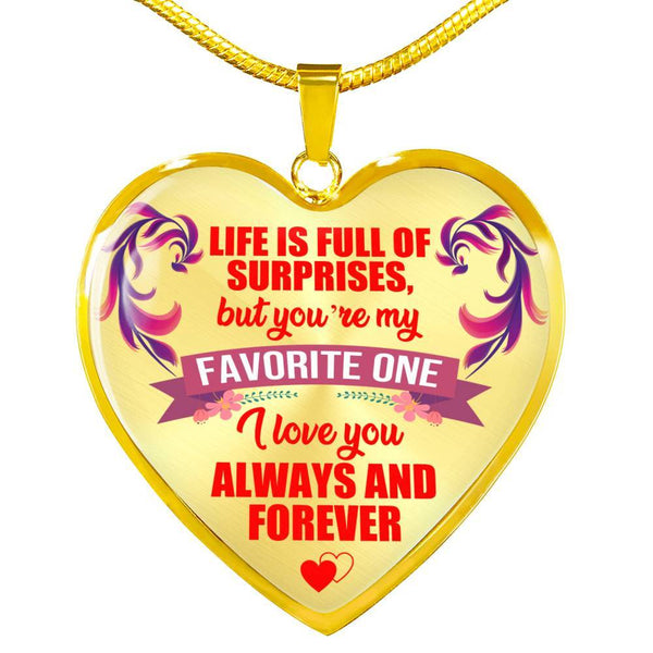 To My Love - Heart Necklace - HD29