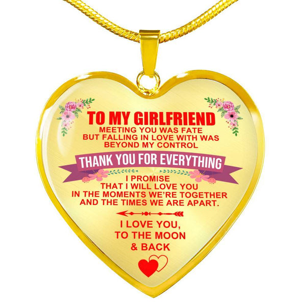 To My Girlfriend - Heart Necklace - HD21