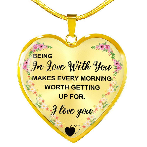 Being In Love - Heart Necklace - HD47