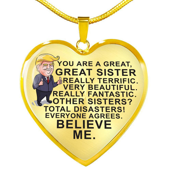 You're A Great Sister - Pendant Necklace - HD10