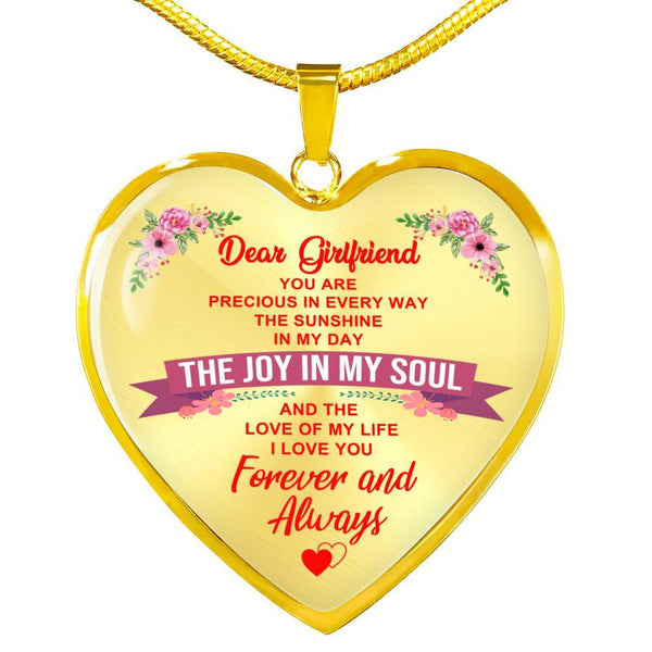 To My Girlfriend - Heart Necklace - HD15