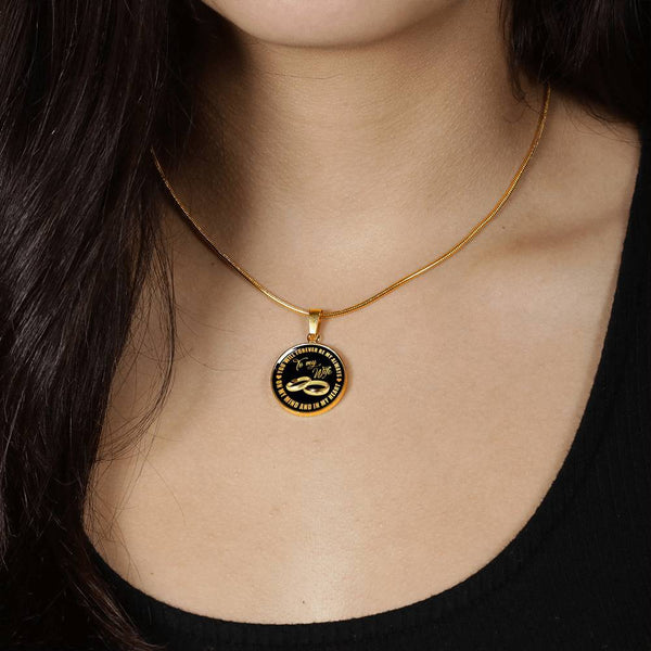 To My Wife 18k Gold Necklace - CD03