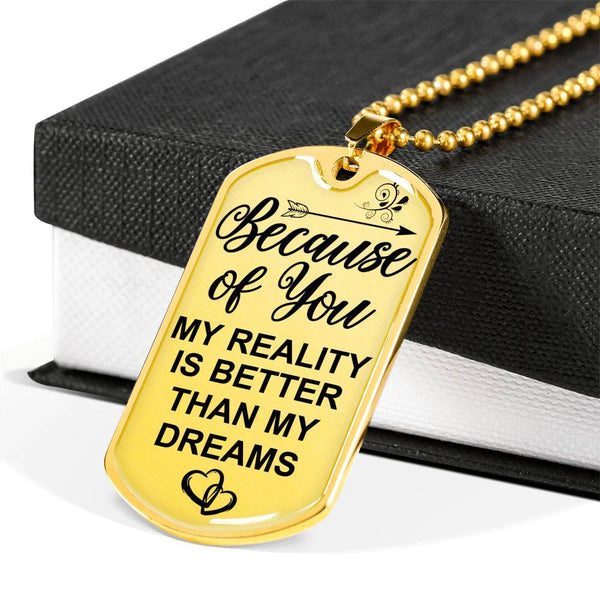 Because Of You - Keepsake Tag - DT03