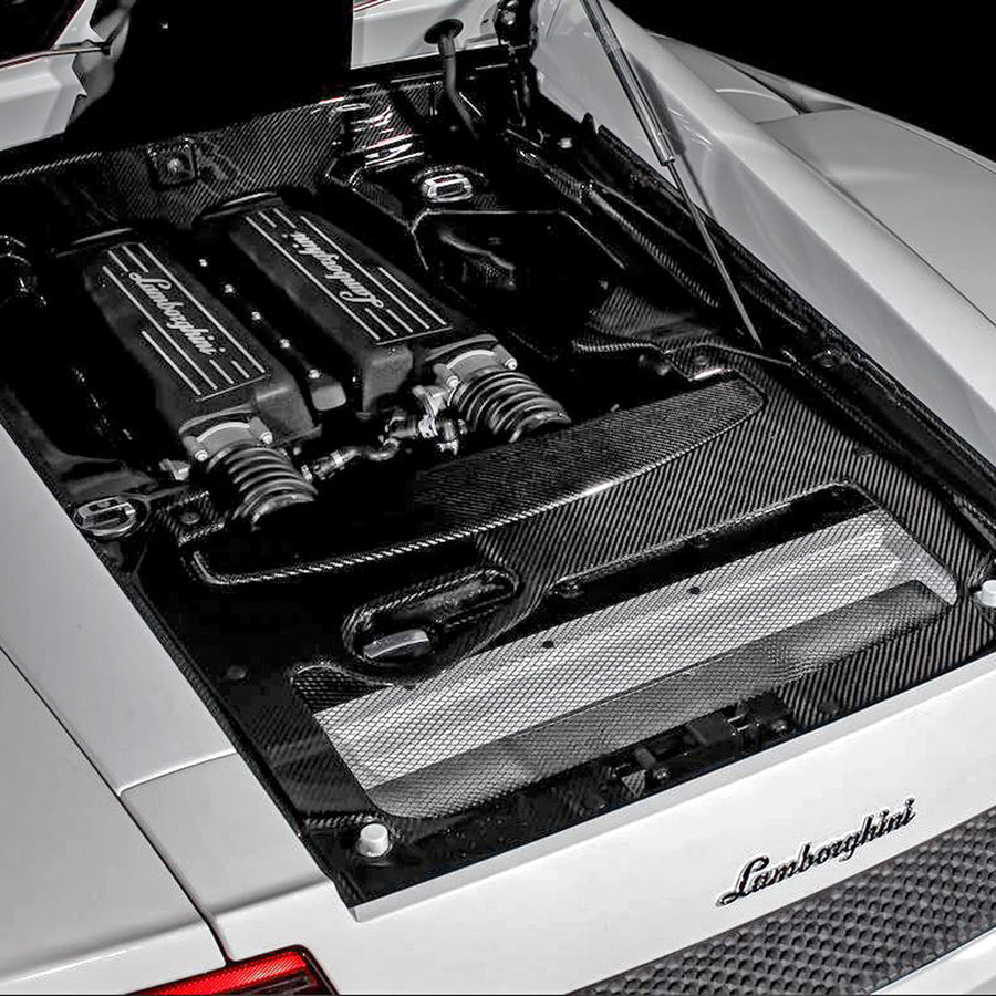 4-Piece CF Engine Bay Kit for Lamborghini Gallardo