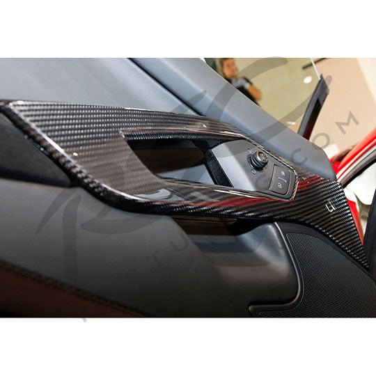 Aventador Door Handles in Car Carbon Fiber