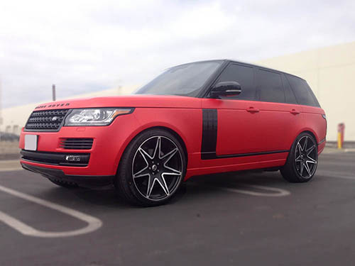 Range Rover Carbon Fiber Trim Kit RSC Tuning Red