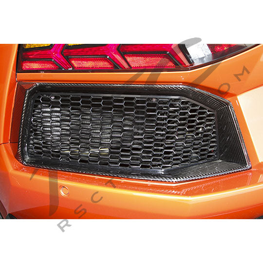 Lamborghini Aventador Carbon Fiber Rear Outlet Surrounds Left