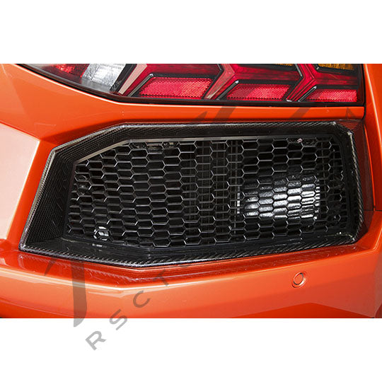 Lamborghini Aventador Carbon Fiber Rear Outlet Surrounds Right