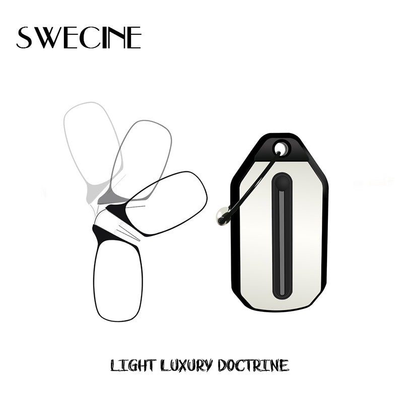 eb7d3daaa37 SWECINE Clip Nose Reading Glasses Mini Folding Reading Glasses Men and  Women s Easy Carry With Key ...
