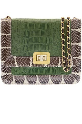 Signature Angel Jackson Jai Satchel in Vintage Green leather