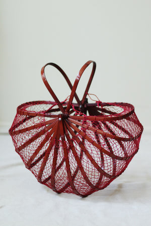 Mid-Century Japanese Fishing Basket