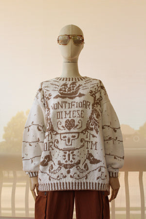 1980's Ace of Swords Sweater (Beige)