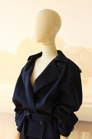 1980's ANN DUPUY Navy Skirt Suit